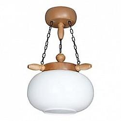 Подвесной светильник АврораДеревянные<br>Артикул - AV_11013-1L,Бренд - Аврора (Россия),Коллекция - Идилия,Гарантия, месяцы - 24,Высота, мм - 250,Диаметр, мм - 360,Тип лампы - компактная люминесцентная [КЛЛ] ИЛИнакаливания ИЛИсветодиодная  [LED],Общее кол-во ламп - 1,Напряжение питания лампы, В - 220,Максимальная мощность лампы, Вт - 60,Лампы в комплекте - отсутствуют,Цвет плафонов и подвесок - белый,Тип поверхности плафонов - матовый,Материал плафонов и подвесок - стекло,Цвет арматуры - сосна,Тип поверхности арматуры - матовый,Материал арматуры - дерево,Возможность подлючения диммера - можно, если установить лампу накаливания,Тип цоколя лампы - E27,Класс электробезопасности - I,Степень пылевлагозащиты, IP - 20,Диапазон рабочих температур - комнатная температура,Дополнительные параметры - способ крепления светильника к потолку - на крюке, регулируется по высоте, указана высота светильника без подвеса, стиль кантри<br>