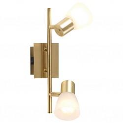 Бра GloboС 2 лампами<br>Артикул - GB_54540-2,Бренд - Globo (Австрия),Коллекция - Raider,Гарантия, месяцы - 24,Высота, мм - 300,Размер упаковки, мм - 320x120x140,Тип лампы - компактная люминесцентная [КЛЛ] ИЛИнакаливания ИЛИсветодиодная [LED],Общее кол-во ламп - 2,Напряжение питания лампы, В - 220,Максимальная мощность лампы, Вт - 40,Лампы в комплекте - отсутствуют,Цвет плафонов и подвесок - белый алебастр,Тип поверхности плафонов - матовый,Материал плафонов и подвесок - стекло,Цвет арматуры - латунь,Тип поверхности арматуры - матовый,Материал арматуры - металл,Возможность подлючения диммера - можно, если установить лампу накаливания,Тип цоколя лампы - E14,Класс электробезопасности - I,Общая мощность, Вт - 80,Степень пылевлагозащиты, IP - 20,Диапазон рабочих температур - комнатная температура,Дополнительные параметры - поворотный светильник, предназначен для использования со скрытой проводкой<br>