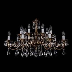 Подвесная люстра Bohemia Ivele CrystalБолее 6 ламп<br>Артикул - BI_1703_14_A_FP,Бренд - Bohemia Ivele Crystal (Чехия),Коллекция - 1703,Гарантия, месяцы - 12,Высота, мм - 500,Диаметр, мм - 850,Размер упаковки, мм - 710x710x240,Тип лампы - компактная люминесцентная [КЛЛ] ИЛИнакаливания ИЛИсветодиодная [LED],Общее кол-во ламп - 14,Напряжение питания лампы, В - 220,Максимальная мощность лампы, Вт - 40,Лампы в комплекте - отсутствуют,Цвет плафонов и подвесок - неокрашенный,Тип поверхности плафонов - прозрачный,Материал плафонов и подвесок - хрусталь,Цвет арматуры - патина французская,Тип поверхности арматуры - глянцевый, рельефный,Материал арматуры - металл,Возможность подлючения диммера - можно, если установить лампу накаливания,Форма и тип колбы - свеча ИЛИ свеча на ветру,Тип цоколя лампы - E14,Класс электробезопасности - I,Общая мощность, Вт - 560,Степень пылевлагозащиты, IP - 20,Диапазон рабочих температур - комнатная температура,Дополнительные параметры - способ крепления светильника к потолку – на крюке<br>