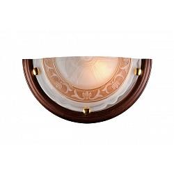 Накладной светильник SonexСветодиодные<br>Артикул - SN_017,Бренд - Sonex (Россия),Коллекция - Filo,Гарантия, месяцы - 24,Высота, мм - 180,Тип лампы - компактная люминесцентная [КЛЛ] ИЛИнакаливания ИЛИсветодиодная [LED],Общее кол-во ламп - 1,Напряжение питания лампы, В - 220,Максимальная мощность лампы, Вт - 100,Лампы в комплекте - отсутствуют,Цвет плафонов и подвесок - белый с коричневым орнаментом,Тип поверхности плафонов - матовый,Материал плафонов и подвесок - стекло,Цвет арматуры - золото, темный орех,Тип поверхности арматуры - глянцевый,Материал арматуры - дерево, металл,Возможность подлючения диммера - можно, если установить лампу накаливания,Тип цоколя лампы - E27,Класс электробезопасности - I,Степень пылевлагозащиты, IP - 20,Диапазон рабочих температур - комнатная температура<br>