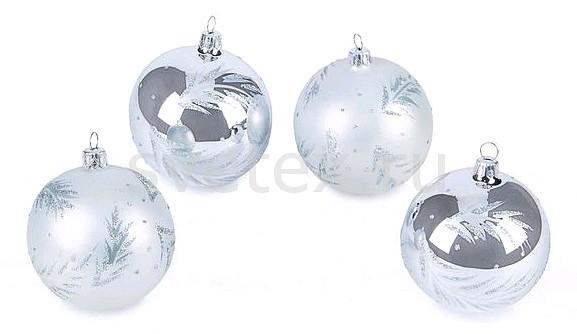 Фото Набор из 4 елочных шаров (7.5 см)