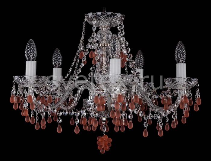 Фото Подвесная люстра Bohemia Ivele Crystal 1410 1410/5/195/Ni/7010