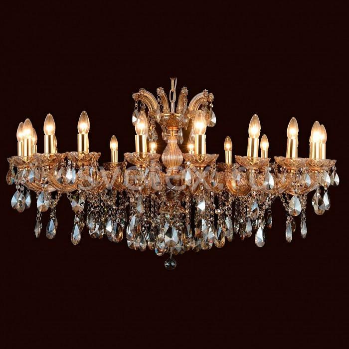 Подвесная люстра FavouriteБолее 6 ламп<br>Артикул - FV_1650-20P,Бренд - Favourite (Германия),Коллекция - Teresia,Гарантия, месяцы - 24,Высота, мм - 630-2000,Диаметр, мм - 1120,Тип лампы - компактная люминесцентная [КЛЛ] ИЛИнакаливания ИЛИсветодиодная [LED],Общее кол-во ламп - 20,Напряжение питания лампы, В - 220,Максимальная мощность лампы, Вт - 40,Лампы в комплекте - отсутствуют,Цвет плафонов и подвесок - янтарный,Тип поверхности плафонов - прозрачный, рельефный,Материал плафонов и подвесок - хрусталь,Цвет арматуры - золото, янтарный,Тип поверхности арматуры - глянцевый, прозрачный,Материал арматуры - металл, стекло,Возможность подлючения диммера - можно, если установить лампу накаливания,Форма и тип колбы - свеча ИЛИ свеча на ветру,Тип цоколя лампы - E14,Класс электробезопасности - I,Общая мощность, Вт - 800,Степень пылевлагозащиты, IP - 20,Диапазон рабочих температур - комнатная температура,Дополнительные параметры - способ крепления светильника к потолку - на крюке, регулируется по высоте<br>