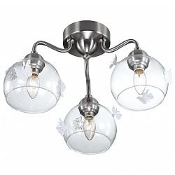 Потолочная люстра Odeon LightНе более 4 ламп<br>Артикул - OD_2764_3C,Бренд - Odeon Light (Италия),Коллекция - Meleta,Гарантия, месяцы - 24,Время изготовления, дней - 1,Высота, мм - 250,Диаметр, мм - 450,Тип лампы - компактная люминесцентная [КЛЛ] ИЛИнакаливания ИЛИсветодиодная [LED],Общее кол-во ламп - 3,Напряжение питания лампы, В - 220,Максимальная мощность лампы, Вт - 40,Лампы в комплекте - отсутствуют,Цвет плафонов и подвесок - неокрашенный,Тип поверхности плафонов - прозрачный,Материал плафонов и подвесок - стекло,Цвет арматуры - никель,Тип поверхности арматуры - глянцевый,Материал арматуры - металл,Возможность подлючения диммера - можно, если установить лампу накаливания,Тип цоколя лампы - E14,Класс электробезопасности - I,Общая мощность, Вт - 120,Степень пылевлагозащиты, IP - 20,Диапазон рабочих температур - комнатная температура<br>