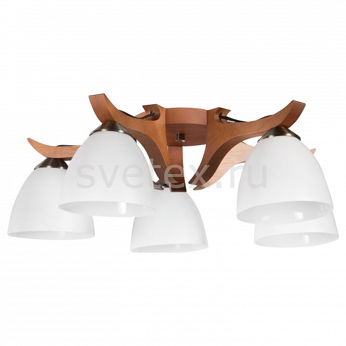 Потолочная люстра ДубравияДеревянные<br>Артикул - DU_110-21-25,Бренд - Дубравия (Россия),Коллекция - Шалле,Гарантия, месяцы - 24,Высота, мм - 180,Диаметр, мм - 550,Размер упаковки, мм - 520x460x165,Тип лампы - компактная люминесцентная [КЛЛ] ИЛИнакаливания ИЛИсветодиодная [LED],Общее кол-во ламп - 5,Напряжение питания лампы, В - 220,Максимальная мощность лампы, Вт - 60,Лампы в комплекте - отсутствуют,Цвет плафонов и подвесок - белый,Тип поверхности плафонов - матовый,Материал плафонов и подвесок - стекло,Цвет арматуры - орех, хром,Тип поверхности арматуры - глянцевый, матовый,Материал арматуры - дерево, металл,Количество плафонов - 5,Возможность подлючения диммера - можно, если установить лампу накаливания,Тип цоколя лампы - E27,Класс электробезопасности - I,Общая мощность, Вт - 300,Степень пылевлагозащиты, IP - 20,Диапазон рабочих температур - комнатная температура,Дополнительные параметры - способ крепления светильника к потолку - на монтажной пластине<br>