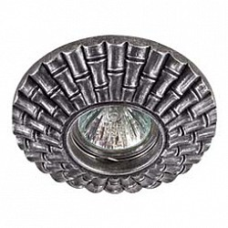 Встраиваемый светильник NovotechСветильники для натяжных потолков<br>Артикул - NV_370135,Бренд - Novotech (Венгрия),Коллекция - Pattern,Гарантия, месяцы - 24,Диаметр, мм - 120,Тип лампы - галогеновая ИЛИсветодиодная [LED],Общее кол-во ламп - 1,Напряжение питания лампы, В - 12,Максимальная мощность лампы, Вт - 50,Лампы в комплекте - отсутствуют,Цвет арматуры - серебро,Тип поверхности арматуры - матовый, рельефный,Материал арматуры - камень песчаник,Форма и тип колбы - полусферическая с рефлектором,Тип цоколя лампы - GX5.3,Класс электробезопасности - III,Степень пылевлагозащиты, IP - 20,Диапазон рабочих температур - комнатная температура<br>