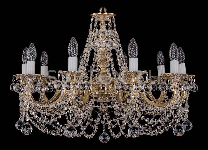 Фото Подвесная люстра Bohemia Ivele Crystal 1702 1702/10/C/GW/Balls