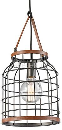 Подвесной светильник FavouriteСветодиодные<br>Артикул - FV_1580-1PC,Бренд - Favourite (Германия),Коллекция - Netz,Гарантия, месяцы - 24,Высота, мм - 470,Диаметр, мм - 240,Тип лампы - компактная люминесцентная [КЛЛ] ИЛИнакаливания ИЛИсветодиодная [LED],Общее кол-во ламп - 1,Напряжение питания лампы, В - 220,Максимальная мощность лампы, Вт - 60,Лампы в комплекте - отсутствуют,Цвет плафонов и подвесок - коричневый, черный античный,Тип поверхности плафонов - матовый,Материал плафонов и подвесок - металл, эко-кожа,Цвет арматуры - черный античный,Тип поверхности арматуры - матовый,Материал арматуры - металл,Количество плафонов - 1,Возможность подлючения диммера - можно, если установить лампу накаливания,Тип цоколя лампы - E27,Класс электробезопасности - I,Степень пылевлагозащиты, IP - 20,Диапазон рабочих температур - комнатная температура,Дополнительные параметры - способ крепления к потолку - на монтажной пластине, регулируется по высоте<br>