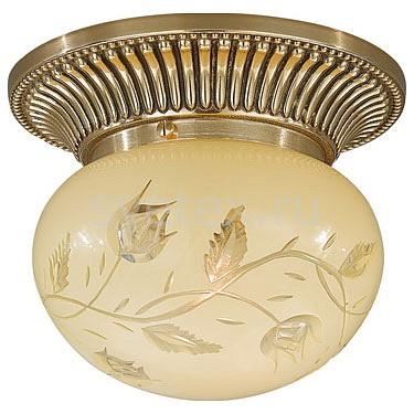 Накладной светильник Reccagni AngeloКруглые<br>Артикул - RA_PL_7802_1,Бренд - Reccagni Angelo (Италия),Коллекция - 7800,Гарантия, месяцы - 24,Выступ, мм - 140,Диаметр, мм - 160,Тип лампы - компактная люминесцентная [КЛЛ] ИЛИнакаливания ИЛИсветодиодная [LED],Общее кол-во ламп - 1,Напряжение питания лампы, В - 220,Максимальная мощность лампы, Вт - 60,Лампы в комплекте - отсутствуют,Цвет плафонов и подвесок - кремовый с рисунком,Тип поверхности плафонов - матовый,Материал плафонов и подвесок - стекло,Цвет арматуры - золото французское,Тип поверхности арматуры - глянцевый, рельефный,Материал арматуры - латунь,Количество плафонов - 1,Возможность подлючения диммера - можно, если установить лампу накаливания,Тип цоколя лампы - E27,Класс электробезопасности - I,Степень пылевлагозащиты, IP - 20,Диапазон рабочих температур - комнатная температура,Дополнительные параметры - способ крепления к потолку - на монтажной пластине<br>