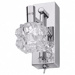 Бра IDLampС 1 лампой<br>Артикул - ID_386_1A-Chrome,Бренд - IDLamp (Италия),Коллекция - 386,Высота, мм - 165,Тип лампы - светодиодная [LED],Общее кол-во ламп - 1,Напряжение питания лампы, В - 220,Максимальная мощность лампы, Вт - 3,Лампы в комплекте - светодиодная [LED],Цвет плафонов и подвесок - неокрашенный,Тип поверхности плафонов - прозрачный, рельефный,Материал плафонов и подвесок - стекло,Цвет арматуры - хром,Тип поверхности арматуры - глянцевый,Материал арматуры - металл,Возможность подлючения диммера - нельзя,Класс электробезопасности - I,Степень пылевлагозащиты, IP - 20,Диапазон рабочих температур - комнатная температура,Дополнительные параметры - поворотный светильник, светильник предназначен для использования со скрытой проводкой, способ крепления светильника к стене – на монтажной пластине<br>