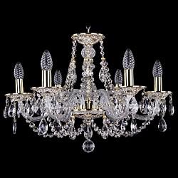 Подвесная люстра Bohemia Ivele Crystal5 или 6 ламп<br>Артикул - BI_1606_6_195_GW,Бренд - Bohemia Ivele Crystal (Чехия),Коллекция - 1606,Гарантия, месяцы - 24,Высота, мм - 390,Диаметр, мм - 570,Размер упаковки, мм - 450x450x200,Тип лампы - компактная люминесцентная [КЛЛ] ИЛИнакаливания ИЛИсветодиодная [LED],Общее кол-во ламп - 6,Напряжение питания лампы, В - 220,Максимальная мощность лампы, Вт - 40,Лампы в комплекте - отсутствуют,Цвет плафонов и подвесок - неокрашенный,Тип поверхности плафонов - прозрачный,Материал плафонов и подвесок - хрусталь,Цвет арматуры - золото беленое, неокрашенный,Тип поверхности арматуры - глянцевый, прозрачный, рельефный,Материал арматуры - латунь, стекло,Возможность подлючения диммера - можно, если установить лампу накаливания,Форма и тип колбы - свеча ИЛИ свеча на ветру,Тип цоколя лампы - E14,Класс электробезопасности - I,Общая мощность, Вт - 240,Степень пылевлагозащиты, IP - 20,Диапазон рабочих температур - комнатная температура,Дополнительные параметры - способ крепления светильника к потолку - на крюке, указана высота светильника без подвеса<br>