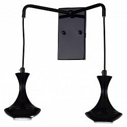 Бра FavouriteМеталлический плафон<br>Артикул - FV_1727-2W,Бренд - Favourite (Германия),Коллекция - Leo,Гарантия, месяцы - 24,Высота, мм - 300,Тип лампы - светодиодная [LED],Общее кол-во ламп - 2,Напряжение питания лампы, В - 12,Максимальная мощность лампы, Вт - 5,Лампы в комплекте - светодиодные [LED] GU5.3,Цвет плафонов и подвесок - черный,Тип поверхности плафонов - глянцевый,Материал плафонов и подвесок - металл,Цвет арматуры - черный,Тип поверхности арматуры - глянцевый,Материал арматуры - металл,Возможность подлючения диммера - нельзя,Форма и тип колбы - полусферическая с рефлектором,Тип цоколя лампы - GU5.3,Класс электробезопасности - I,Общая мощность, Вт - 10,Степень пылевлагозащиты, IP - 20,Диапазон рабочих температур - комнатная температура,Дополнительные параметры - способ крепления светильника к стене  – на монтажной пластине, светильник предназначен для использования со скрытой проводкой<br>