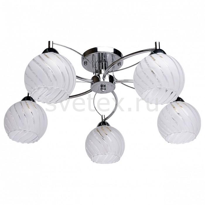 Потолочная люстра De MarktЛюстры<br>Артикул - MW_358018005,Бренд - De Markt (Германия),Коллекция - Грация 2,Гарантия, месяцы - 24,Высота, мм - 250,Диаметр, мм - 600,Тип лампы - компактная люминесцентная [КЛЛ] ИЛИнакаливания ИЛИсветодиодная [LED],Общее кол-во ламп - 5,Напряжение питания лампы, В - 220,Максимальная мощность лампы, Вт - 60,Лампы в комплекте - отсутствуют,Цвет плафонов и подвесок - белый с неокрашенным рисунком,Тип поверхности плафонов - матовый,Материал плафонов и подвесок - стекло,Цвет арматуры - хром,Тип поверхности арматуры - глянцевый,Материал арматуры - металл,Количество плафонов - 5,Возможность подлючения диммера - можно, если установить лампу накаливания,Тип цоколя лампы - E27,Класс электробезопасности - I,Общая мощность, Вт - 300,Степень пылевлагозащиты, IP - 20,Диапазон рабочих температур - комнатная температура,Дополнительные параметры - способ крепления светильника на потолке - на монтажной пластине<br>