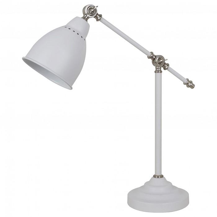 Настольная лампа офисная Arte LampНастольные лампы для школьника<br>Артикул - AR_A2054LT-1WH,Бренд - Arte Lamp (Италия),Коллекция - Braccio,Гарантия, месяцы - 24,Ширина, мм - 180,Высота, мм - 540,Выступ, мм - 480,Размер упаковки, мм - 245x145x280,Тип лампы - компактная люминесцентная [КЛЛ] ИЛИнакаливания ИЛИсветодиодная [LED],Общее кол-во ламп - 1,Напряжение питания лампы, В - 220,Максимальная мощность лампы, Вт - 60,Лампы в комплекте - отсутствуют,Цвет плафонов и подвесок - белый,Тип поверхности плафонов - матовый,Материал плафонов и подвесок - металл,Цвет арматуры - белый,Тип поверхности арматуры - матовый,Материал арматуры - металл,Количество плафонов - 1,Наличие выключателя, диммера или пульта ДУ - выключатель на проводе,Компоненты, входящие в комплект - провод электропитания с вилкой без заземления,Тип цоколя лампы - E27,Класс электробезопасности - II,Степень пылевлагозащиты, IP - 20,Диапазон рабочих температур - комнатная температура,Дополнительные параметры - поворотный светильник<br>
