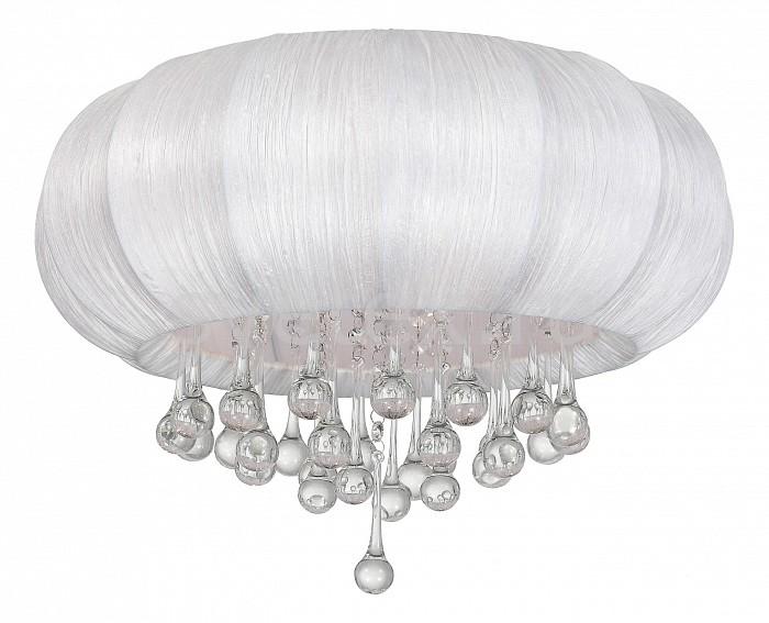 Накладной светильник ST-LuceКруглые<br>Артикул - SL350.052.05,Бренд - ST-Luce (Китай),Коллекция - Preferita,Гарантия, месяцы - 24,Высота, мм - 300,Диаметр, мм - 500,Размер упаковки, мм - 550x550x270,Тип лампы - компактная люминесцентная [КЛЛ] ИЛИнакаливания ИЛИсветодиодная [LED],Общее кол-во ламп - 5,Напряжение питания лампы, В - 220,Максимальная мощность лампы, Вт - 40,Лампы в комплекте - отсутствуют,Цвет плафонов и подвесок - белый, неокрашенный,Тип поверхности плафонов - матовый, прозрачный,Материал плафонов и подвесок - текстиль, хрусталь,Цвет арматуры - хром,Тип поверхности арматуры - глянцевый,Материал арматуры - металл,Количество плафонов - 1,Возможность подлючения диммера - можно, если установить лампу накаливания,Тип цоколя лампы - E14,Класс электробезопасности - I,Общая мощность, Вт - 200,Степень пылевлагозащиты, IP - 20,Диапазон рабочих температур - комнатная температура,Дополнительные параметры - способ крепления светильника к потолку - на монтажной пластине<br>