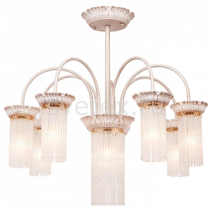 Люстра на штанге SilverLightБолее 6 ламп<br>Артикул - SL_714.51.8,Бренд - SilverLight (Франция),Коллекция - Venezia,Гарантия, месяцы - 24,Высота, мм - 620,Диаметр, мм - 700,Тип лампы - компактная люминесцентная [КЛЛ] ИЛИнакаливания ИЛИсветодиодная [LED],Общее кол-во ламп - 8,Напряжение питания лампы, В - 220,Максимальная мощность лампы, Вт - 60,Лампы в комплекте - отсутствуют,Цвет плафонов и подвесок - неокрашенный,Тип поверхности плафонов - матовый,Материал плафонов и подвесок - стекло,Цвет арматуры - белый с золотой патиной,Тип поверхности арматуры - матовый, рельефный,Материал арматуры - металл,Возможность подлючения диммера - можно, если установить лампу накаливания,Форма и тип колбы - свеча ИЛИ свеча на ветру,Тип цоколя лампы - E14,Класс электробезопасности - I,Общая мощность, Вт - 480,Степень пылевлагозащиты, IP - 20,Диапазон рабочих температур - комнатная температура,Дополнительные параметры - способ крепления светильника на потолке - на монтажной пластине<br>
