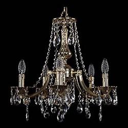 Подвесная люстра Bohemia Ivele Crystal5 или 6 ламп<br>Артикул - BI_1771_5_150_A_GB,Бренд - Bohemia Ivele Crystal (Чехия),Коллекция - 1771,Гарантия, месяцы - 24,Высота, мм - 420,Диаметр, мм - 500,Размер упаковки, мм - 450x450x200,Тип лампы - компактная люминесцентная [КЛЛ] ИЛИнакаливания ИЛИсветодиодная [LED],Общее кол-во ламп - 5,Напряжение питания лампы, В - 220,Максимальная мощность лампы, Вт - 40,Лампы в комплекте - отсутствуют,Цвет плафонов и подвесок - неокрашенный,Тип поверхности плафонов - прозрачный,Материал плафонов и подвесок - хрусталь,Цвет арматуры - золото черненое,Тип поверхности арматуры - глянцевый, рельефный,Материал арматуры - латунь,Возможность подлючения диммера - можно, если установить лампу накаливания,Форма и тип колбы - свеча ИЛИ свеча на ветру,Тип цоколя лампы - E14,Класс электробезопасности - I,Общая мощность, Вт - 200,Степень пылевлагозащиты, IP - 20,Диапазон рабочих температур - комнатная температура,Дополнительные параметры - способ крепления светильника к потолку - на крюке, указана высота светильника без подвеса<br>
