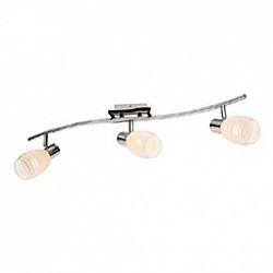 Спот GloboС 3 лампами<br>Артикул - GB_541010-3,Бренд - Globo (Австрия),Коллекция - 541010,Гарантия, месяцы - 24,Тип лампы - компактная люминесцентная [КЛЛ] ИЛИнакаливания ИЛИсветодиодная [LED],Общее кол-во ламп - 3,Напряжение питания лампы, В - 220,Максимальная мощность лампы, Вт - 40,Лампы в комплекте - отсутствуют,Цвет плафонов и подвесок - белый полосатый,Тип поверхности плафонов - матовый,Материал плафонов и подвесок - стекло,Цвет арматуры - хром, черный,Тип поверхности арматуры - глянцевый, матовый,Материал арматуры - металл,Возможность подлючения диммера - можно, если установить лампу накаливания,Тип цоколя лампы - E14,Класс электробезопасности - I,Общая мощность, Вт - 120,Степень пылевлагозащиты, IP - 20,Диапазон рабочих температур - комнатная температура,Дополнительные параметры - способ крепления светильника к потолку и стене - на монтажной пластине, поворотный светильник<br>