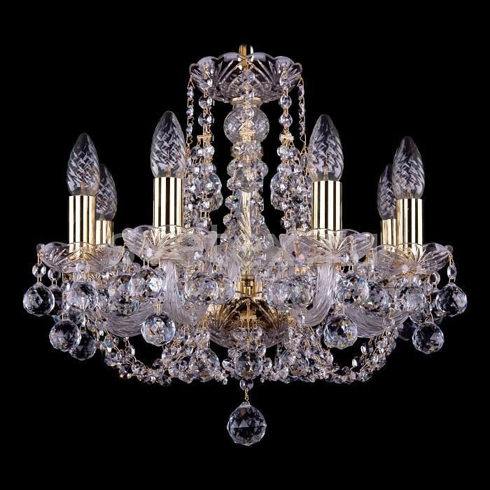 Фото Подвесная люстра Bohemia Ivele Crystal 1406 1406/8/141/G/Balls