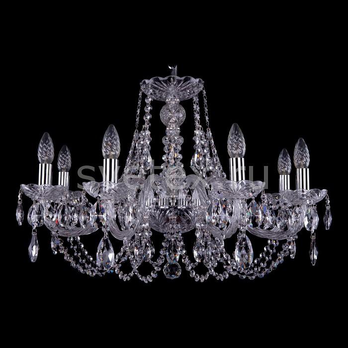 Подвесная люстра Bohemia Ivele CrystalБолее 6 ламп<br>Артикул - BI_1406_8_240_Ni,Бренд - Bohemia Ivele Crystal (Чехия),Коллекция - 1406,Гарантия, месяцы - 24,Высота, мм - 460,Диаметр, мм - 700,Размер упаковки, мм - 710x710x350,Тип лампы - компактная люминесцентная [КЛЛ] ИЛИнакаливания ИЛИсветодиодная [LED],Общее кол-во ламп - 8,Напряжение питания лампы, В - 220,Максимальная мощность лампы, Вт - 40,Лампы в комплекте - отсутствуют,Цвет плафонов и подвесок - неокрашенный,Тип поверхности плафонов - прозрачный,Материал плафонов и подвесок - хрусталь,Цвет арматуры - неокрашенный, никель,Тип поверхности арматуры - глянцевый, прозрачный, рельефный,Материал арматуры - металл, стекло,Возможность подлючения диммера - можно, если установить лампу накаливания,Форма и тип колбы - свеча ИЛИ свеча на ветру,Тип цоколя лампы - E14,Класс электробезопасности - I,Общая мощность, Вт - 320,Степень пылевлагозащиты, IP - 20,Диапазон рабочих температур - комнатная температура,Дополнительные параметры - способ крепления светильника к потолку - на крюке, указана высота светильника без подвеса<br>