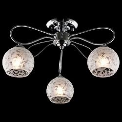 Потолочная люстра EurosvetНе более 4 ламп<br>Артикул - EV_76399,Бренд - Eurosvet (Китай),Коллекция - Фламинго,Гарантия, месяцы - 24,Высота, мм - 290,Диаметр, мм - 480,Тип лампы - компактная люминесцентная [КЛЛ] ИЛИнакаливания ИЛИсветодиодная [LED],Общее кол-во ламп - 3,Напряжение питания лампы, В - 220,Максимальная мощность лампы, Вт - 60,Лампы в комплекте - отсутствуют,Цвет плафонов и подвесок - белый с неокрашенным рисунком,Тип поверхности плафонов - матовый,Материал плафонов и подвесок - стекло,Цвет арматуры - хром,Тип поверхности арматуры - глянцевый,Материал арматуры - металл,Возможность подлючения диммера - можно, если установить лампу накаливания,Тип цоколя лампы - E27,Класс электробезопасности - I,Общая мощность, Вт - 180,Степень пылевлагозащиты, IP - 20,Диапазон рабочих температур - комнатная температура,Дополнительные параметры - способ крепления светильника к потолку - на монтажной пластине<br>