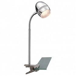 Настольная лампа GloboНа прищепке<br>Артикул - GB_56206-1K,Бренд - Globo (Австрия),Коллекция - Manjola,Гарантия, месяцы - 24,Высота, мм - 400,Тип лампы - светодиодная [LED],Общее кол-во ламп - 1,Напряжение питания лампы, В - 128,Максимальная мощность лампы, Вт - 3,Лампы в комплекте - светодиодная [LED],Цвет плафонов и подвесок - неокрашенный, хром,Тип поверхности плафонов - глянцевый, прозрачный,Материал плафонов и подвесок - акрил, металл,Цвет арматуры - хром,Тип поверхности арматуры - глянцевый,Материал арматуры - металл,Класс электробезопасности - II,Степень пылевлагозащиты, IP - 20,Диапазон рабочих температур - комнатная температура,Дополнительные параметры - поворотный светильник на прищепке, провод электропитания с вилкой без заземления<br>