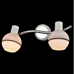 Спот EurosvetС 2 лампами<br>Артикул - EV_76506,Бренд - Eurosvet (Китай),Коллекция - Сириус,Гарантия, месяцы - 24,Тип лампы - компактная люминесцентная [КЛЛ] ИЛИнакаливания ИЛИсветодиодная [LED],Общее кол-во ламп - 2,Напряжение питания лампы, В - 220,Максимальная мощность лампы, Вт - 40,Лампы в комплекте - отсутствуют,Цвет плафонов и подвесок - белый, коричневый, серый,Тип поверхности плафонов - матовый,Материал плафонов и подвесок - стекло,Цвет арматуры - серый, хром,Тип поверхности арматуры - глянцевый, матовый,Материал арматуры - металл,Возможность подлючения диммера - можно, если установить лампу накаливания,Тип цоколя лампы - E14,Класс электробезопасности - I,Общая мощность, Вт - 80,Степень пылевлагозащиты, IP - 20,Диапазон рабочих температур - комнатная температура,Дополнительные параметры - способ крепления светильника к потолку и стене - на монтажной пластине, поворотный светильник<br>