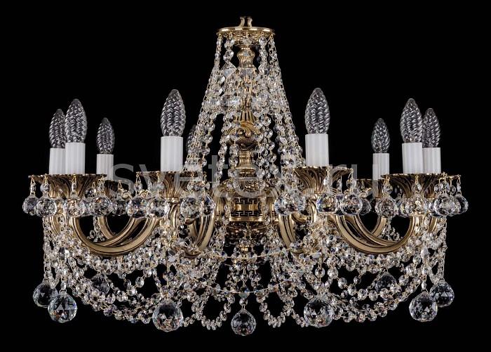 Фото Подвесная люстра Bohemia Ivele Crystal 1702 1702/10/C/GB/Balls