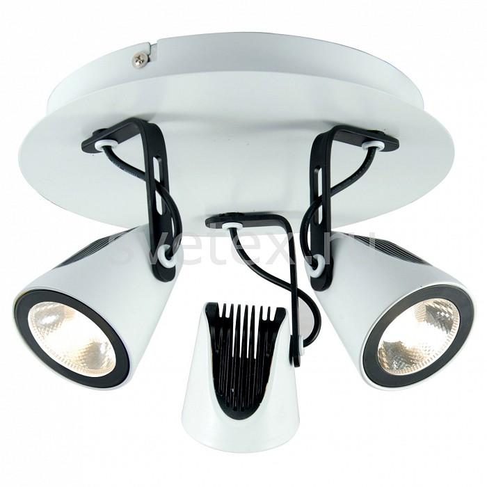 Спот Loft LSN-4101-03 LussoleСпоты<br>Артикул - LSN-4101-03,Бренд - Lussole (Италия),Коллекция - Loft,Гарантия, месяцы - 24,Выступ, мм - 150,Диаметр, мм - 220,Тип лампы - светодиодная [LED],Общее кол-во ламп - 3,Напряжение питания лампы, В - 12,Максимальная мощность лампы, Вт - 5,Цвет лампы - белый,Лампы в комплекте - светодиодные (LED),Цвет плафонов и подвесок - белый, черный,Тип поверхности плафонов - матовый,Материал плафонов и подвесок - металл,Цвет арматуры - белый, черный,Тип поверхности арматуры - матовый,Материал арматуры - металл,Количество плафонов - 3,Возможность подлючения диммера - нельзя,Компоненты, входящие в комплект - трансформатор 12В,Цветовая температура, K - 4000 K,Световой поток, лм - 2070,Экономичнее лампы накаливания - в 10 раз,Светоотдача, лм/Вт - 138,Класс электробезопасности - I,Напряжение питания, В - 220,Общая мощность, Вт - 15,Степень пылевлагозащиты, IP - 20,Диапазон рабочих температур - комнатная температура<br>
