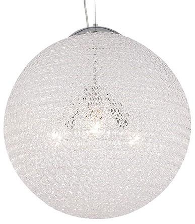 Подвесной светильник MantraСветодиодные<br>Артикул - MN_5710,Бренд - Mantra (Испания),Коллекция - Bola,Гарантия, месяцы - 24,Высота, мм - 600-1500,Диаметр, мм - 500,Тип лампы - компактная люминесцентная [КЛЛ] ИЛИнакаливания ИЛИсветодиодная [LED],Общее кол-во ламп - 3,Напряжение питания лампы, В - 220,Максимальная мощность лампы, Вт - 60,Лампы в комплекте - отсутствуют,Цвет плафонов и подвесок - неокрашенный,Тип поверхности плафонов - прозрачный, рельефный,Материал плафонов и подвесок - акрил,Цвет арматуры - хром,Тип поверхности арматуры - глянцевый,Материал арматуры - металл,Количество плафонов - 1,Возможность подлючения диммера - можно, если установить лампу накаливания,Тип цоколя лампы - E27,Класс электробезопасности - I,Общая мощность, Вт - 180,Степень пылевлагозащиты, IP - 20,Диапазон рабочих температур - комнатная температура,Дополнительные параметры - способ крепления светильника к потолку - на монтажной пластине, светильник регулируется по высоте<br>
