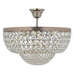 Люстра на штанге Arti Lampadari5 или 6 ламп<br>Артикул - AL_Favola_E_1.3.40.501_N,Бренд - Arti Lampadari (Италия),Коллекция - Favola,Гарантия, месяцы - 24,Высота, мм - 300,Диаметр, мм - 400,Тип лампы - компактная люминесцентная [КЛЛ] ИЛИнакаливания ИЛИсветодиодная [LED],Общее кол-во ламп - 5,Напряжение питания лампы, В - 220,Максимальная мощность лампы, Вт - 60,Лампы в комплекте - отсутствуют,Цвет плафонов и подвесок - неокрашенный,Тип поверхности плафонов - прозрачный,Материал плафонов и подвесок - хрусталь,Цвет арматуры - никель,Тип поверхности арматуры - глянцевый,Материал арматуры - металл,Возможность подлючения диммера - можно, если установить лампу накаливания,Тип цоколя лампы - E27,Класс электробезопасности - I,Общая мощность, Вт - 300,Степень пылевлагозащиты, IP - 20,Диапазон рабочих температур - комнатная температура,Дополнительные параметры - способ крепления к потолку - на монтажной пластине<br>