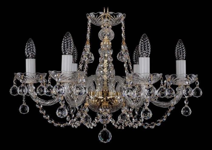 Фото Подвесная люстра Bohemia Ivele Crystal 1406 1406/6/195/G/Balls