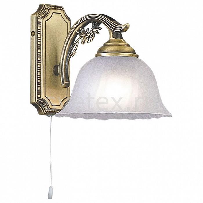 Бра Reccagni AngeloНастенные светильники<br>Артикул - RA_A_2720_1,Бренд - Reccagni Angelo (Италия),Коллекция - 2720,Гарантия, месяцы - 24,Ширина, мм - 180,Высота, мм - 170,Выступ, мм - 270,Тип лампы - компактная люминесцентная [КЛЛ] ИЛИнакаливания ИЛИсветодиодная [LED],Общее кол-во ламп - 1,Напряжение питания лампы, В - 220,Максимальная мощность лампы, Вт - 60,Лампы в комплекте - отсутствуют,Цвет плафонов и подвесок - белый,Тип поверхности плафонов - матовый, рельефный,Материал плафонов и подвесок - стекло,Цвет арматуры - бронза состаренная,Тип поверхности арматуры - матовый, рельефный,Материал арматуры - латунь,Количество плафонов - 1,Наличие выключателя, диммера или пульта ДУ - выключатель шнуровой,Возможность подлючения диммера - можно, если установить лампу накаливания,Тип цоколя лампы - E27,Класс электробезопасности - I,Степень пылевлагозащиты, IP - 20,Диапазон рабочих температур - комнатная температура,Дополнительные параметры - способ крепления светильника на стене – на монтажной пластине, светильник предназначен для использования со скрытой проводкой<br>