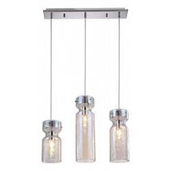 Подвесной светильник Crystal LuxБарные<br>Артикул - CU_1570_203,Бренд - Crystal Lux (Испания),Коллекция - Dia,Гарантия, месяцы - 24,Высота, мм - 390-1100,Тип лампы - компактная люминесцентная [КЛЛ] ИЛИнакаливания ИЛИсветодиодная [LED],Общее кол-во ламп - 3,Напряжение питания лампы, В - 220,Максимальная мощность лампы, Вт - 60,Лампы в комплекте - отсутствуют,Цвет плафонов и подвесок - неокрашенный,Тип поверхности плафонов - прозрачный,Материал плафонов и подвесок - стекло,Цвет арматуры - хром,Тип поверхности арматуры - глянцевый,Материал арматуры - металл,Возможность подлючения диммера - можно, если установить лампу накаливания,Тип цоколя лампы - E27,Класс электробезопасности - I,Общая мощность, Вт - 180,Степень пылевлагозащиты, IP - 20,Диапазон рабочих температур - комнатная температура,Дополнительные параметры - регулируется по высоте,  способ крепления светильника к потолку – на монтажной пластине<br>