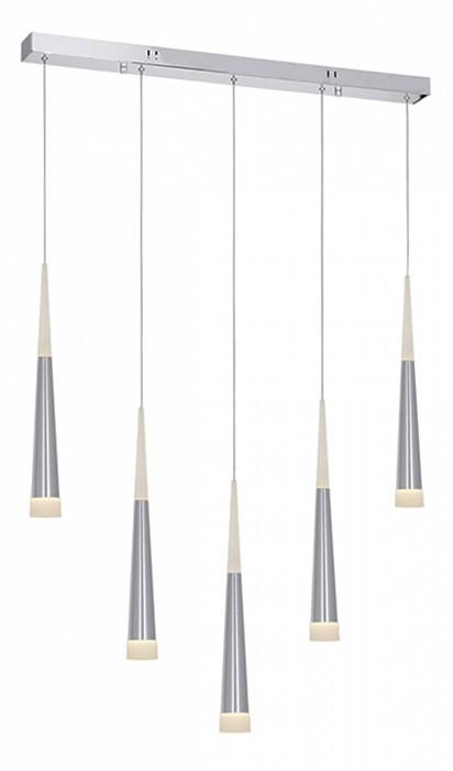 Подвесной светильник Kink LightСветодиодные<br>Артикул - KL_6114-5AS,Бренд - Kink Light (Китай),Коллекция - Рэй,Гарантия, месяцы - 24,Длина, мм - 810,Ширина, мм - 70,Высота, мм - 1500,Тип лампы - светодиодная [LED],Общее кол-во ламп - 5,Максимальная мощность лампы, Вт - 7,Цвет лампы - белый,Лампы в комплекте - светодиодные [LED],Цвет плафонов и подвесок - неокрашенный,Тип поверхности плафонов - матовый,Материал плафонов и подвесок - стекло,Цвет арматуры - хром,Тип поверхности арматуры - глянцевый,Материал арматуры - металл,Количество плафонов - 5,Возможность подлючения диммера - нельзя,Цветовая температура, K - 4000 K,Класс электробезопасности - I,Напряжение питания, В - 220,Общая мощность, Вт - 35,Степень пылевлагозащиты, IP - 20,Диапазон рабочих температур - комнатная температура,Дополнительные параметры - способ крепления к потолку - на монтажной пластине<br>