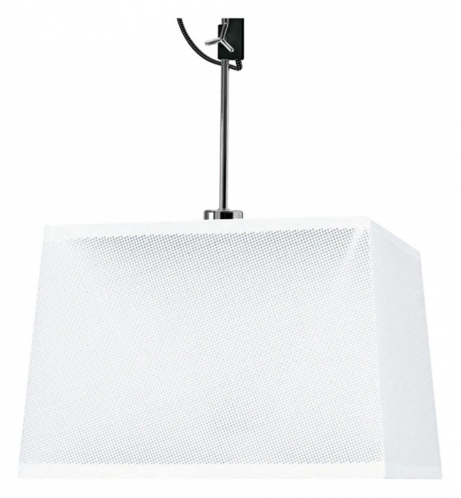 Светильник на штанге MantraКвадратные<br>Артикул - MN_5301_5304,Бренд - Mantra (Испания),Коллекция - Habana,Гарантия, месяцы - 24,Длина, мм - 450,Ширина, мм - 450,Высота, мм - 560-805,Тип лампы - компактная люминесцентная [КЛЛ] ИЛИсветодиодная [LED],Общее кол-во ламп - 1,Напряжение питания лампы, В - 220,Максимальная мощность лампы, Вт - 23,Лампы в комплекте - отсутствуют,Цвет плафонов и подвесок - белый,Тип поверхности плафонов - матовый,Материал плафонов и подвесок - текстиль,Цвет арматуры - черный, хром,Тип поверхности арматуры - глянцевый, матовый,Материал арматуры - металл,Количество плафонов - 1,Тип цоколя лампы - E27,Класс электробезопасности - I,Степень пылевлагозащиты, IP - 20,Диапазон рабочих температур - комнатная температура,Дополнительные параметры - способ крепления светильника к потолку - на монтажной пластине, регулируется по высоте<br>