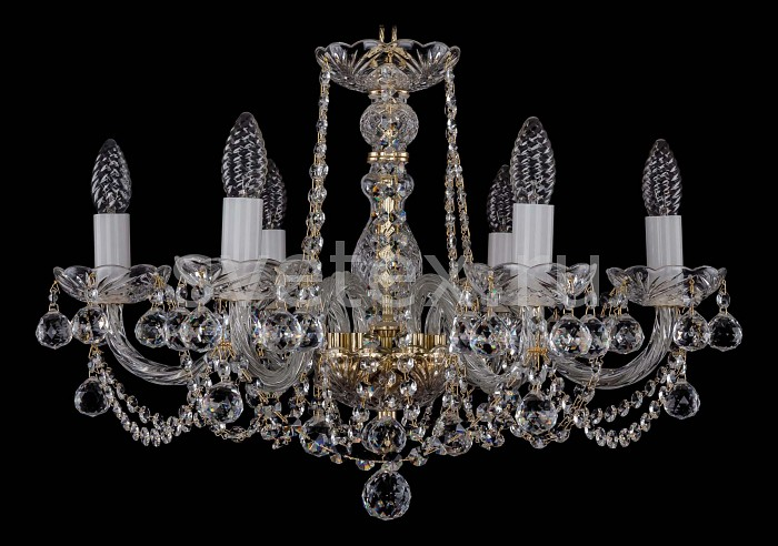 Фото Подвесная люстра Bohemia Ivele Crystal 1402 1402/6/195/G/Balls