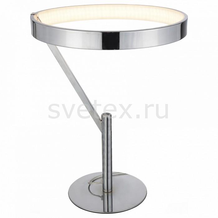 Настольная лампа декоративная ST-LuceПолимерные<br>Артикул - SL911.104.01,Бренд - ST-Luce (Италия),Коллекция - Facilita,Гарантия, месяцы - 24,Время изготовления, дней - 1,Высота, мм - 455,Диаметр, мм - 350,Размер упаковки, мм - 550х550х145,Тип лампы - светодиодная [LED],Общее кол-во ламп - 1,Напряжение питания лампы, В - 220,Максимальная мощность лампы, Вт - 19, 2,Цвет лампы - белый,Лампы в комплекте - светодиодная [LED],Цвет плафонов и подвесок - белый, хром,Тип поверхности плафонов - глянцевый, матовый,Материал плафонов и подвесок - акрил, металл,Цвет арматуры - хром,Тип поверхности арматуры - глянцевый,Материал арматуры - металл,Количество плафонов - 1,Наличие выключателя, диммера или пульта ДУ - выключатель на проводе,Компоненты, входящие в комплект - провод электропитания с вилкой без заземления,Цветовая температура, K - 4000 K,Класс электробезопасности - II,Степень пылевлагозащиты, IP - 20,Диапазон рабочих температур - комнатная температура<br>