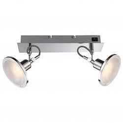 Бра GloboПолимерный плафон<br>Артикул - GB_56953-2,Бренд - Globo (Австрия),Коллекция - Aaron,Гарантия, месяцы - 24,Время изготовления, дней - 1,Высота, мм - 140,Тип лампы - светодиодная [LED],Общее кол-во ламп - 2,Напряжение питания лампы, В - 7,Максимальная мощность лампы, Вт - 5,Лампы в комплекте - светодиодные [LED],Цвет плафонов и подвесок - белый,Тип поверхности плафонов - матовый, рельефный,Материал плафонов и подвесок - полимер,Цвет арматуры - алюминий, хром,Тип поверхности арматуры - глянцевый,Материал арматуры - дюралюминий, металл,Возможность подлючения диммера - нельзя,Класс электробезопасности - I,Общая мощность, Вт - 10,Степень пылевлагозащиты, IP - 20,Диапазон рабочих температур - комнатная температура,Дополнительные параметры - поворотный светильник, предназначен для использования со скрытой проводкой<br>