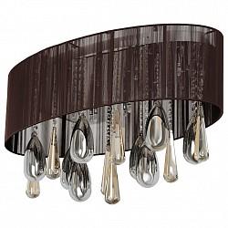 Накладной светильник MW-LightНакладные светильники<br>Артикул - MW_465010914,Бренд - MW-Light (Германия),Коллекция - Жаклин 2,Гарантия, месяцы - 24,Время изготовления, дней - 1,Высота, мм - 380,Размер упаковки, мм - 740x400x260,Тип лампы - галогеновая,Общее кол-во ламп - 14,Напряжение питания лампы, В - 12,Максимальная мощность лампы, Вт - 20,Лампы в комплекте - галогеновые G4,Цвет плафонов и подвесок - неокрашенный, шоколадный,Тип поверхности плафонов - прозрачный, рельефный,Материал плафонов и подвесок - хрусталь, текстиль,Цвет арматуры - хром,Тип поверхности арматуры - глянцевый,Материал арматуры - металл,Возможность подлючения диммера - нельзя,Форма и тип колбы - пальчиковая,Тип цоколя лампы - G4,Класс электробезопасности - I,Общая мощность, Вт - 280,Степень пылевлагозащиты, IP - 20,Диапазон рабочих температур - комнатная температура<br>