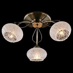 Потолочная люстра EurosvetНе более 4 ламп<br>Артикул - EV_76409,Бренд - Eurosvet (Китай),Коллекция - Колибри,Гарантия, месяцы - 24,Высота, мм - 230,Диаметр, мм - 400,Тип лампы - компактная люминесцентная [КЛЛ] ИЛИнакаливания ИЛИсветодиодная [LED],Общее кол-во ламп - 3,Напряжение питания лампы, В - 220,Максимальная мощность лампы, Вт - 60,Лампы в комплекте - отсутствуют,Цвет плафонов и подвесок - белый с неокрашенным рисунком,Тип поверхности плафонов - матовый,Материал плафонов и подвесок - стекло,Цвет арматуры - бронза античная,Тип поверхности арматуры - матовый,Материал арматуры - металл,Возможность подлючения диммера - можно, если установить лампу накаливания,Тип цоколя лампы - E27,Класс электробезопасности - I,Общая мощность, Вт - 180,Степень пылевлагозащиты, IP - 20,Диапазон рабочих температур - комнатная температура,Дополнительные параметры - способ крепления светильника к потолку - на монтажной пластине<br>
