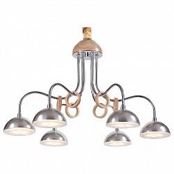 Подвесная люстра Lucia TucciДеревянные<br>Артикул - LT_Natura_064.6_Led,Бренд - Lucia Tucci (Италия),Коллекция - Natura,Гарантия, месяцы - 24,Высота, мм - 760,Диаметр, мм - 530,Тип лампы - светодиодная [LED],Общее кол-во ламп - 6,Напряжение питания лампы, В - 220,Максимальная мощность лампы, Вт - 5,Лампы в комплекте - светодиодные [LED],Цвет плафонов и подвесок - неокрашенный,Тип поверхности плафонов - прозрачный,Материал плафонов и подвесок - стекло,Цвет арматуры - сосна, хром,Тип поверхности арматуры - глянцевый, матовый,Материал арматуры - дерево, металл,Возможность подлючения диммера - нельзя,Класс электробезопасности - I,Общая мощность, Вт - 30,Степень пылевлагозащиты, IP - 20,Диапазон рабочих температур - комнатная температура,Дополнительные параметры - регулируется по высоте,  способ крепления светильника к потолку – на монтажной пластине<br>