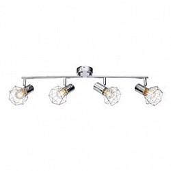 Спот GloboС 4 лампами<br>Артикул - GB_54802-4,Бренд - Globo (Австрия),Коллекция - Xara I,Гарантия, месяцы - 24,Тип лампы - компактная люминесцентная [КЛЛ] ИЛИнакаливания ИЛИсветодиодная [LED],Общее кол-во ламп - 4,Напряжение питания лампы, В - 220,Максимальная мощность лампы, Вт - 40,Лампы в комплекте - отсутствуют,Цвет плафонов и подвесок - хром,Тип поверхности плафонов - глянцевый, металлик,Материал плафонов и подвесок - металл,Цвет арматуры - хром,Тип поверхности арматуры - глянцевый, металлик,Материал арматуры - металл,Количество плафонов - 4,Возможность подлючения диммера - можно, если установить лампу накаливания,Тип цоколя лампы - E14,Класс электробезопасности - I,Общая мощность, Вт - 160,Степень пылевлагозащиты, IP - 20,Диапазон рабочих температур - комнатная температура,Дополнительные параметры - поворотный светильник<br>