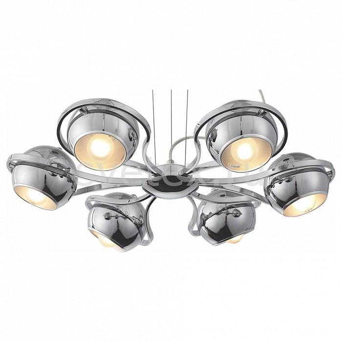 Подвесная люстра ST-LuceСветильники<br>Артикул - SL852.103.06,Бренд - ST-Luce (Италия),Коллекция - Lino,Гарантия, месяцы - 24,Высота, мм - 1200,Диаметр, мм - 580,Размер упаковки, мм - 330x330x190,Тип лампы - компактная люминесцентная [КЛЛ] ИЛИнакаливания ИЛИсветодиодная [LED],Общее кол-во ламп - 6,Напряжение питания лампы, В - 220,Максимальная мощность лампы, Вт - 40,Лампы в комплекте - отсутствуют,Цвет плафонов и подвесок - хром,Тип поверхности плафонов - глянцевый,Материал плафонов и подвесок - металл,Цвет арматуры - хром,Тип поверхности арматуры - глянцевый,Материал арматуры - металл,Количество плафонов - 6,Возможность подлючения диммера - можно, если установить лампу накаливания,Тип цоколя лампы - E14,Класс электробезопасности - I,Общая мощность, Вт - 240,Степень пылевлагозащиты, IP - 20,Диапазон рабочих температур - комнатная температура,Дополнительные параметры - способ крепления светильника к потолоку - на монтажной пластине<br>