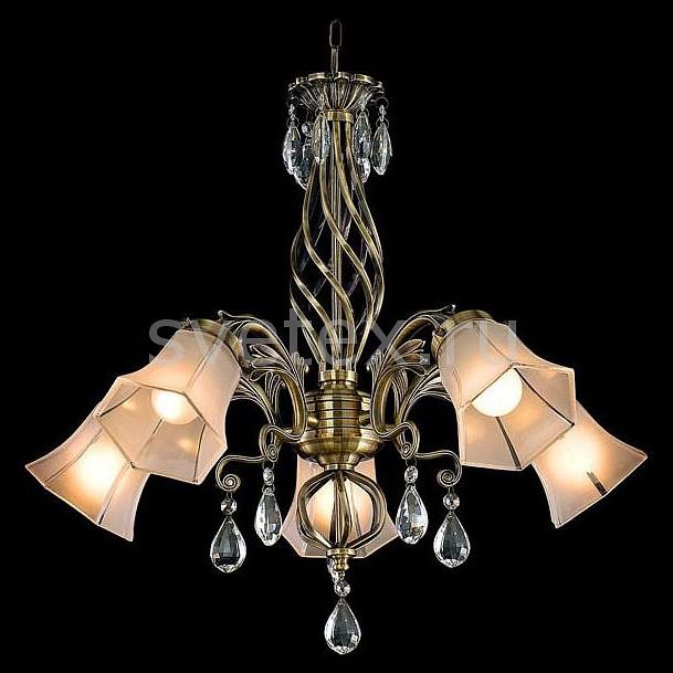Подвесная люстра EurosvetЛюстры<br>Артикул - EV_57527,Бренд - Eurosvet (Китай),Коллекция - 29803,Гарантия, месяцы - 24,Высота, мм - 750-950,Диаметр, мм - 600,Тип лампы - компактная люминесцентная [КЛЛ] ИЛИнакаливания ИЛИсветодиодная [LED],Общее кол-во ламп - 5,Напряжение питания лампы, В - 220,Максимальная мощность лампы, Вт - 60,Лампы в комплекте - отсутствуют,Цвет плафонов и подвесок - белый, неокрашенный,Тип поверхности плафонов - матовый, прозрачный, рельефный,Материал плафонов и подвесок - стекло, хрусталь,Цвет арматуры - бронза античная,Тип поверхности арматуры - матовый, рельефный,Материал арматуры - металл,Количество плафонов - 5,Возможность подлючения диммера - можно, если установить лампу накаливания,Тип цоколя лампы - E27,Класс электробезопасности - I,Общая мощность, Вт - 300,Степень пылевлагозащиты, IP - 20,Диапазон рабочих температур - комнатная температура,Дополнительные параметры - способ крепления светильника к потолку - на крюке, регулируется по высоте<br>