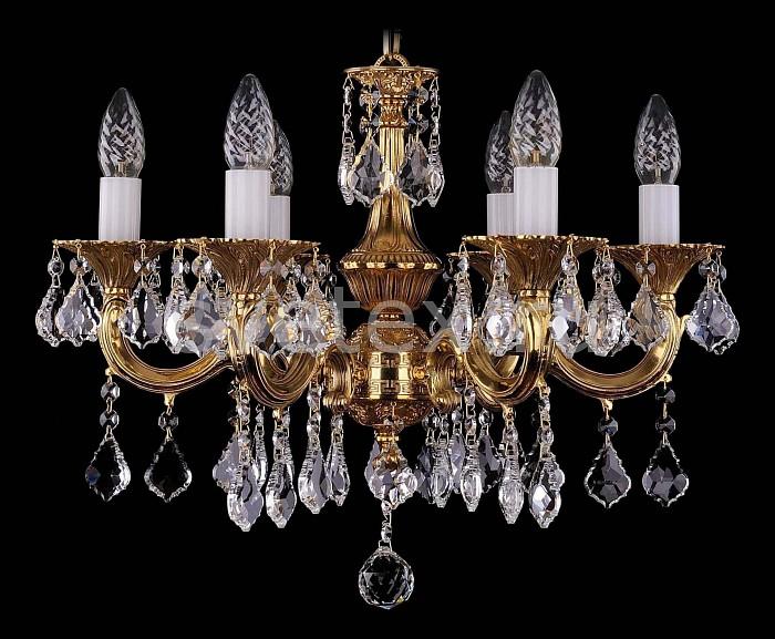 Фото Подвесная люстра Bohemia Ivele Crystal 1701 1701/6/A/G/Leafs