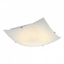 Накладной светильник GloboКвадратные<br>Артикул - GB_40449,Бренд - Globo (Австрия),Коллекция - Vanilla,Гарантия, месяцы - 24,Высота, мм - 85,Размер упаковки, мм - 315x300x90,Тип лампы - светодиодная [LED],Общее кол-во ламп - 1,Напряжение питания лампы, В - 40,Максимальная мощность лампы, Вт - 12,Лампы в комплекте - светодиодная [LED],Цвет плафонов и подвесок - белый с рисунком,Тип поверхности плафонов - матовый,Материал плафонов и подвесок - стекло,Цвет арматуры - никель,Тип поверхности арматуры - сатин,Материал арматуры - металл,Возможность подлючения диммера - нельзя,Класс электробезопасности - I,Степень пылевлагозащиты, IP - 20,Диапазон рабочих температур - комнатная температура,Дополнительные параметры - способ крепления светильника к потолку - на монтажной пластине<br>