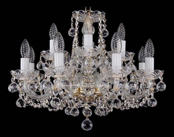 Фото Подвесная люстра Bohemia Ivele Crystal 1402 1402/8_4/195/G/Balls