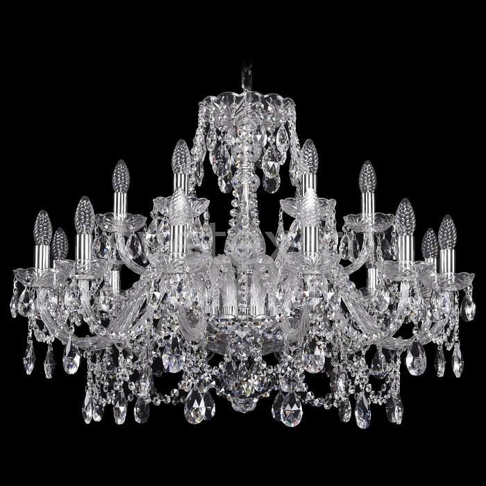 Подвесная люстра Bohemia Ivele CrystalБолее 6 ламп<br>Артикул - BI_1411_12_6_300_Ni,Бренд - Bohemia Ivele Crystal (Чехия),Коллекция - 1411,Гарантия, месяцы - 24,Высота, мм - 930,Диаметр, мм - 820,Размер упаковки, мм - 640x640x320,Тип лампы - компактная люминесцентная [КЛЛ] ИЛИнакаливания ИЛИсветодиодная [LED],Количество ламп - 21,Общее кол-во ламп - 18,Напряжение питания лампы, В - 220,Максимальная мощность лампы, Вт - 40,Лампы в комплекте - отсутствуют,Цвет плафонов и подвесок - неокрашенный,Тип поверхности плафонов - прозрачный,Материал плафонов и подвесок - хрусталь,Цвет арматуры - никель, неокрашенный,Тип поверхности арматуры - матовый, прозрачный,Материал арматуры - металл, стекло,Возможность подлючения диммера - можно, если установить лампу накаливания,Форма и тип колбы - свеча ИЛИ свеча на ветру,Тип цоколя лампы - E14,Класс электробезопасности - I,Общая мощность, Вт - 1080,Степень пылевлагозащиты, IP - 20,Диапазон рабочих температур - комнатная температура,Дополнительные параметры - способ крепления светильника к потолку - на крюке, указана высота светильники без подвеса<br>
