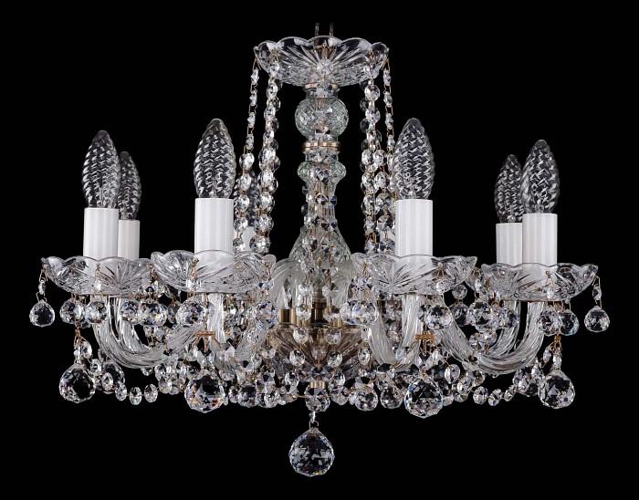 Фото Подвесная люстра Bohemia Ivele Crystal 1402 1402/8/160/Pa/Balls